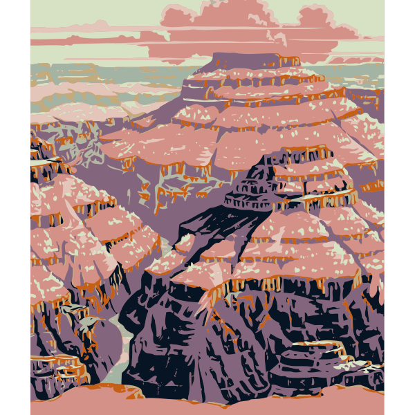 Grand Canyon vector image