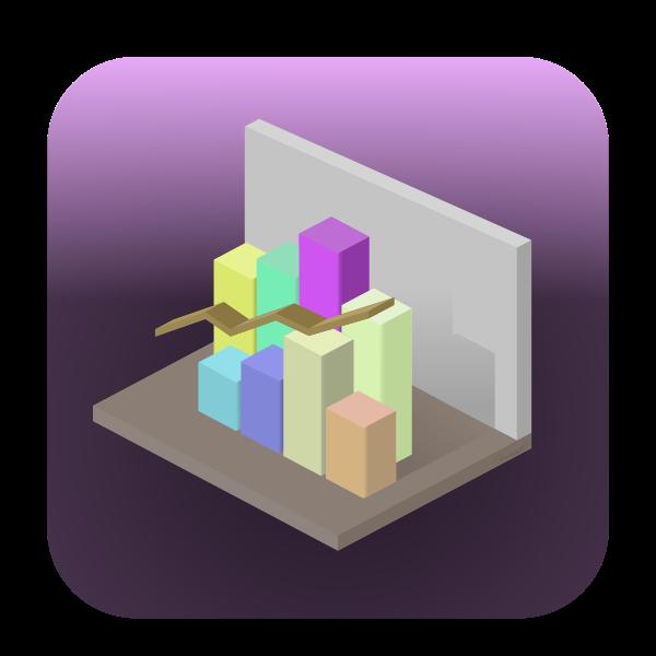 Vector graphics of bar graph icon