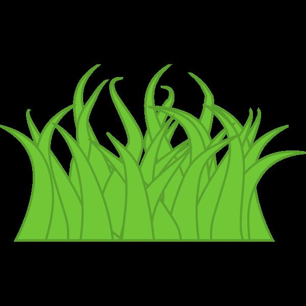 Vector graphics of multicolor grass
