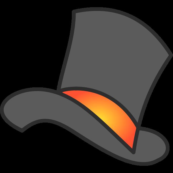 Gray Yellow Orange Top Hat