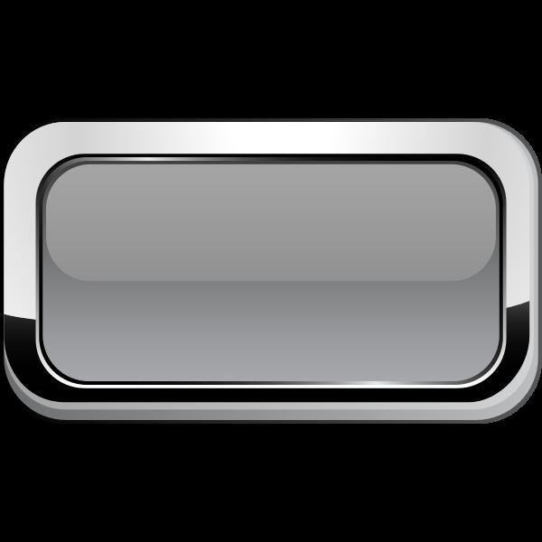 Thick grayscale square border button vector graphics