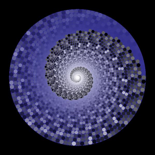 Grayscale Swirling Circles Vortex Variation 6