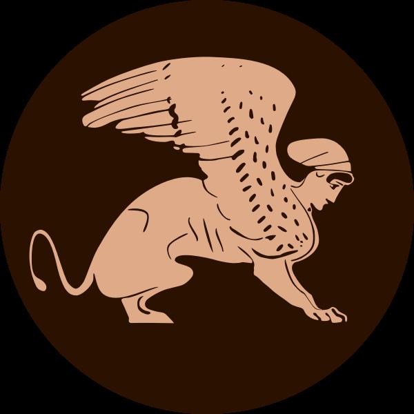 Greek Sphinx vector graphics