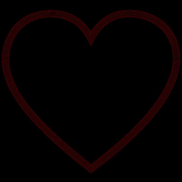 Greek Border Heart