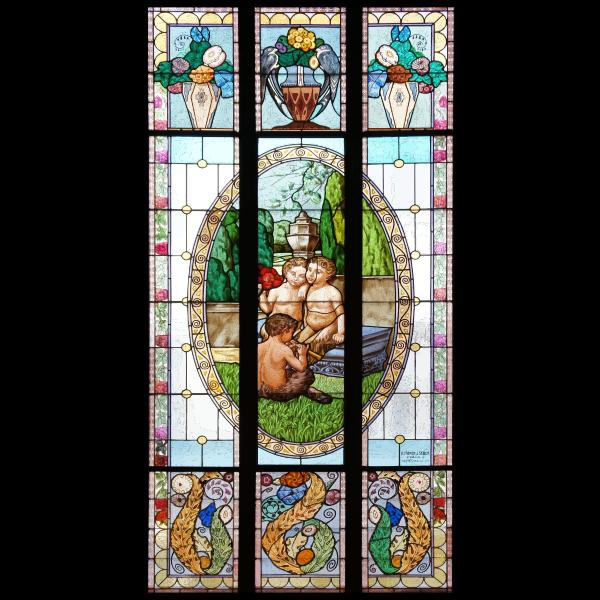 Greek myths Stained Glass Window