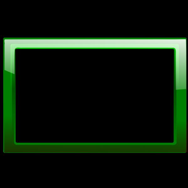 Gloss transparent green frame vector image