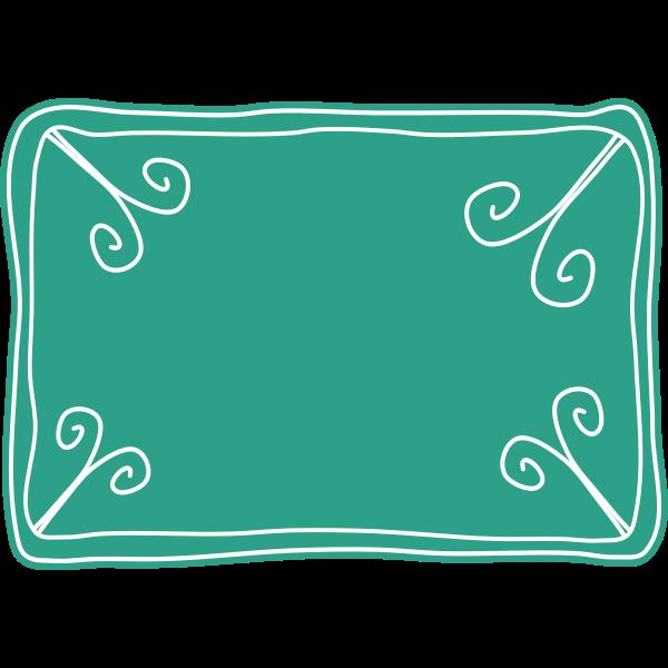 Vector clip art of green voucher template