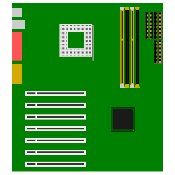Green motherboard vector image