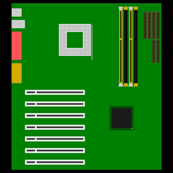 Green motherboard vector image