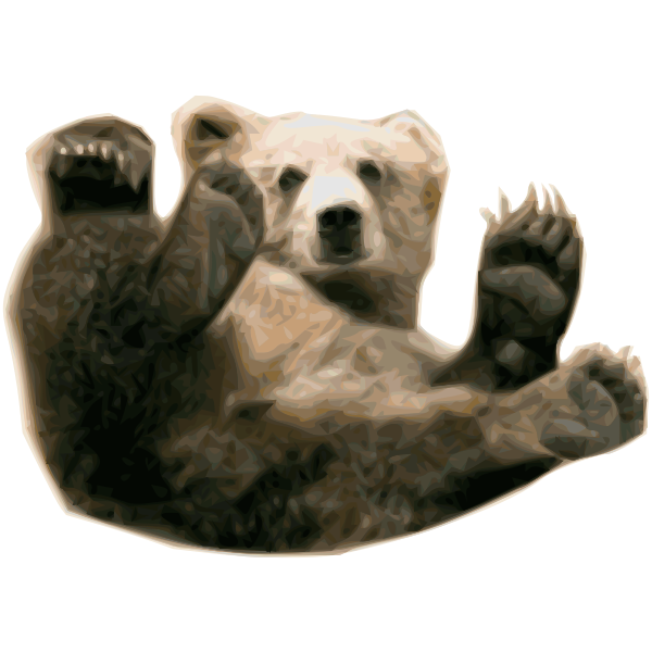 Grizzly bear vector painting