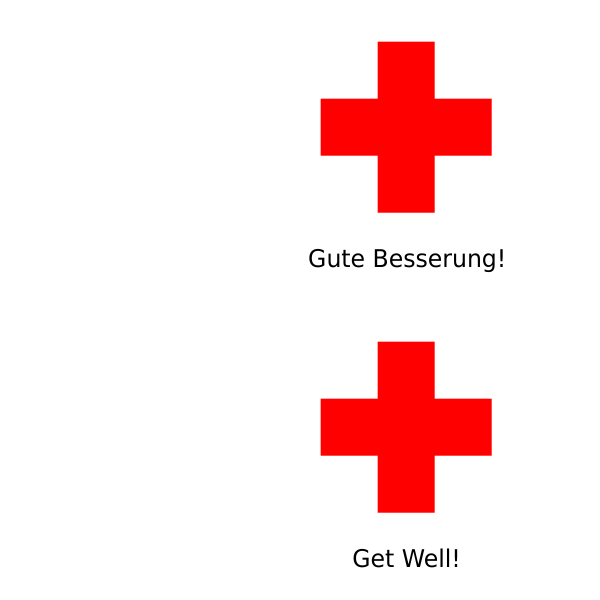 Get Well Card vector drawing
