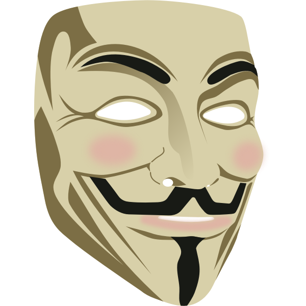 Guy Fawkes mask in 3D vector image