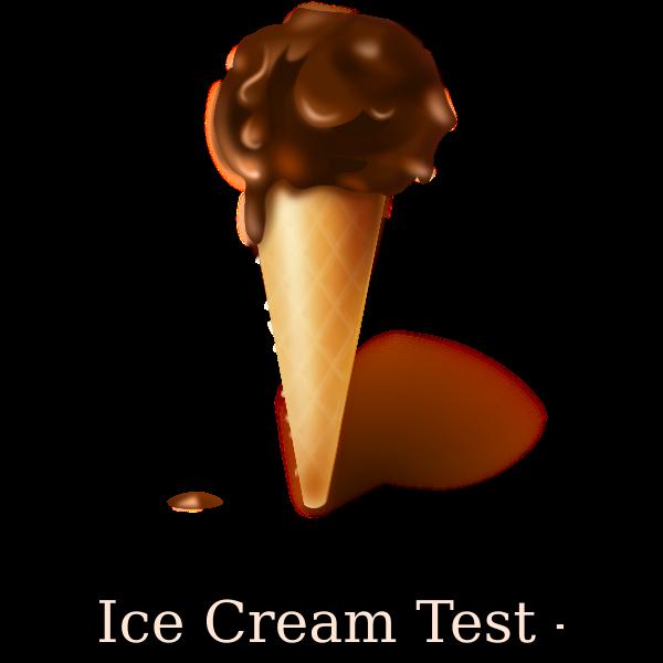 Chocolate ice cream image