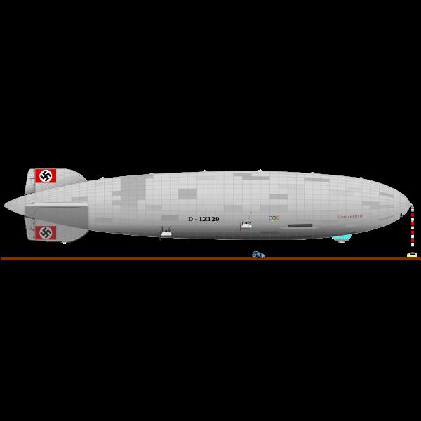Hindenburg airship vector