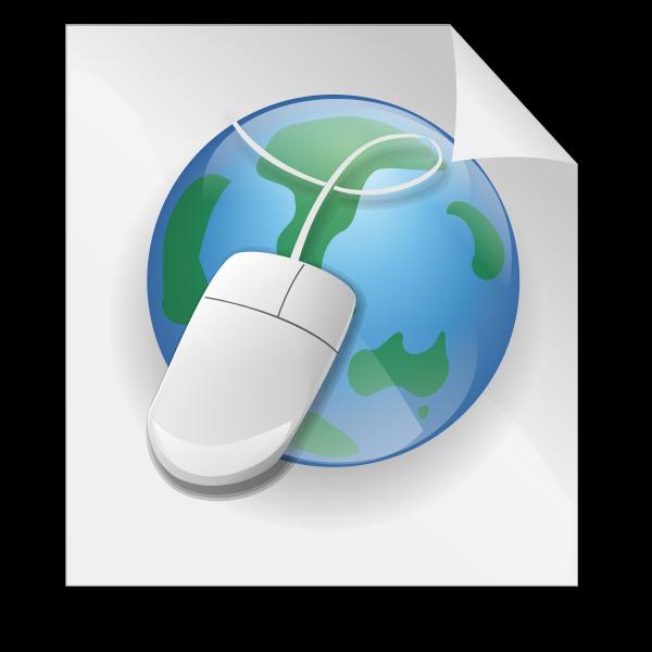 HTML web language icon vector drawing
