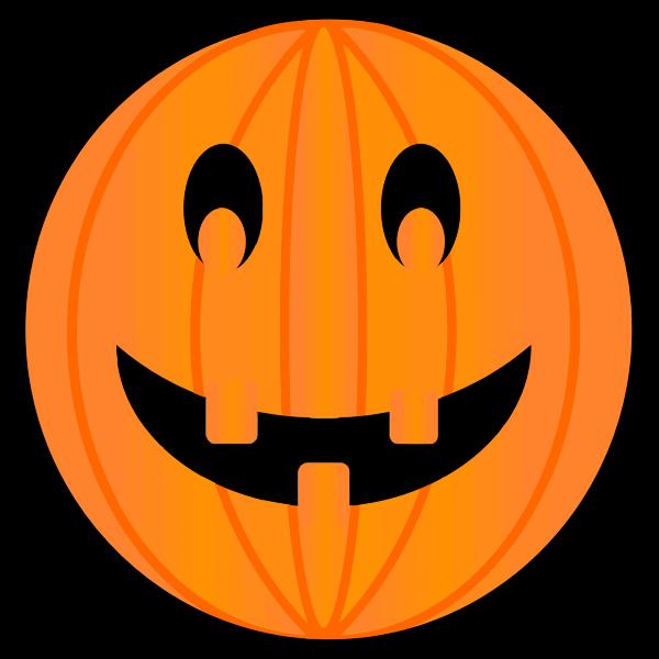 Color image of carved pumpkin for Halloween celebration