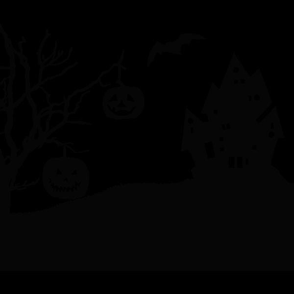 Halloween Landscape Silhouette