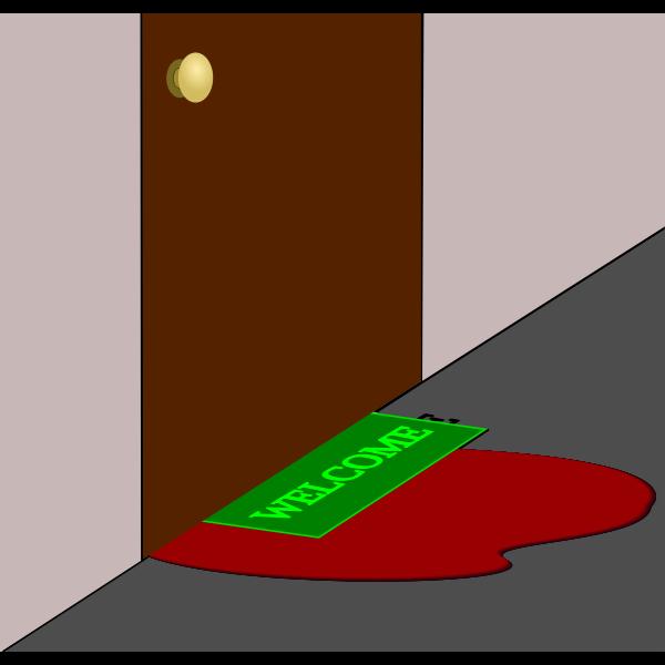 Pool of blood under door vector graphics