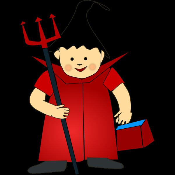 Halloween costume vector image
