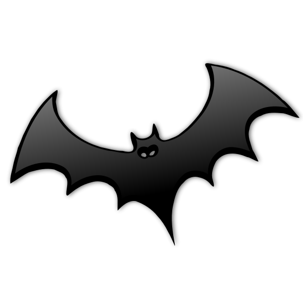 Gray bat silhouette vector image