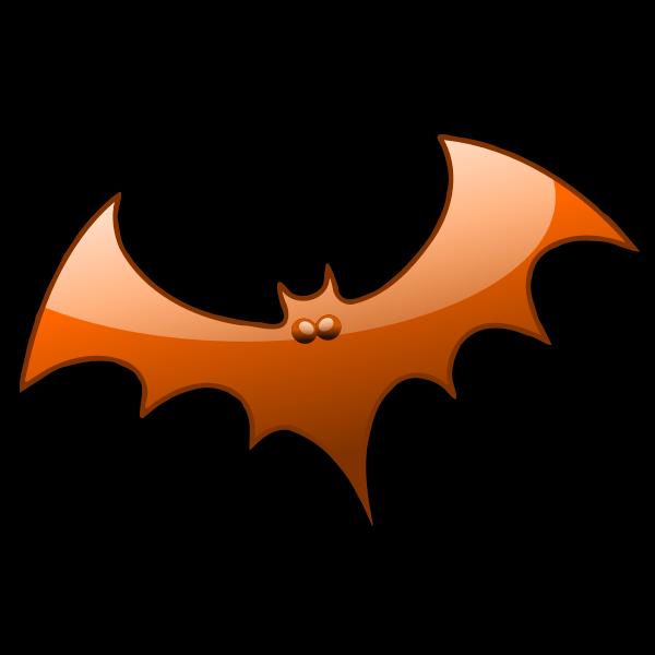 Orange Halloween bat vector image