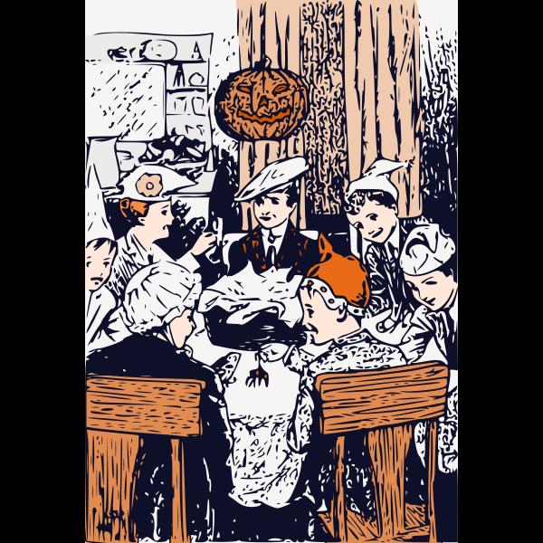 Halloween at Merryvale scene vector image