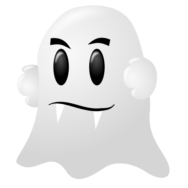 White ghost vector illustration
