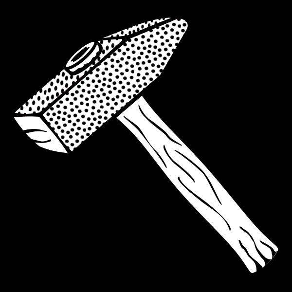 Hammer line art vector image