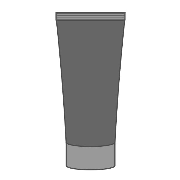 Vector clip art of blank tube cream