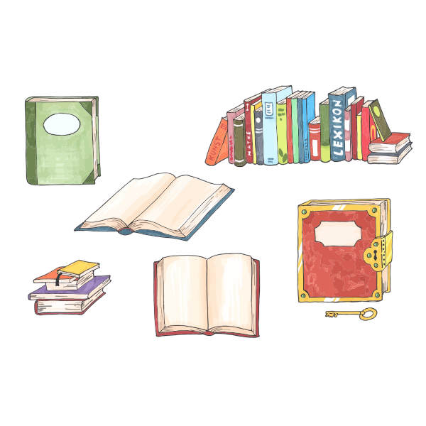 Hand-drawn books