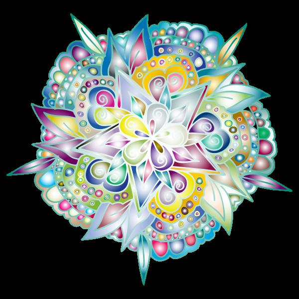 Hand Drawn Floral Line Art Prismatic
