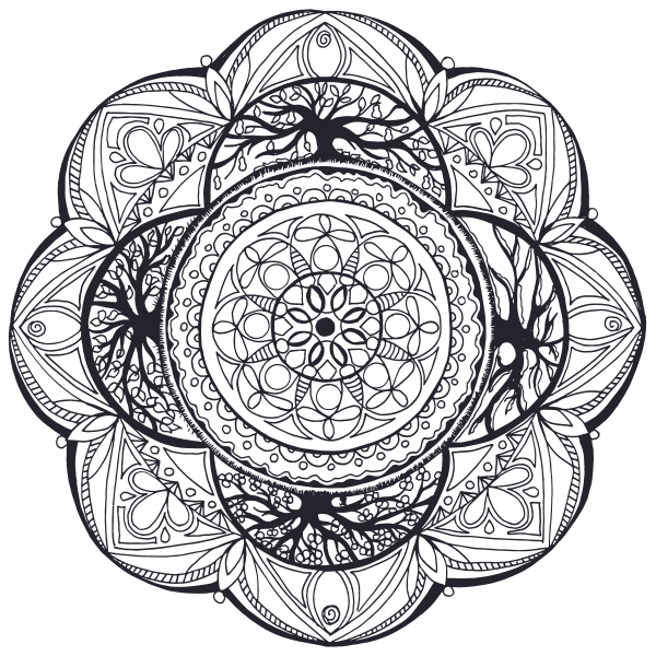 Hand-Drawn Mandala Symbol