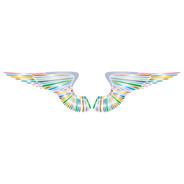 Hand Drawn Wings Prismatic