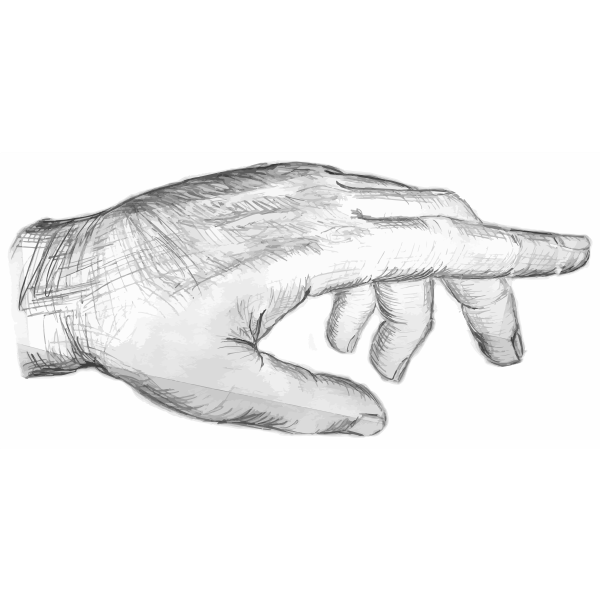 Pencil drawing of a man's hand