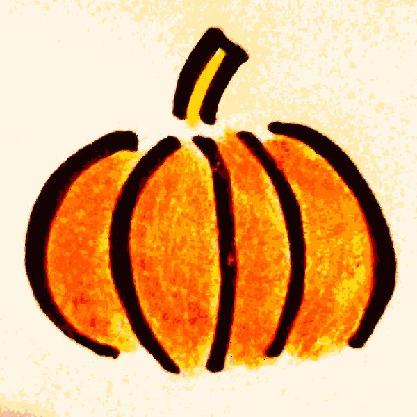 Pencil drawn pumpkin vector image