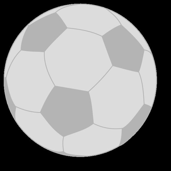 Black and white handball ball vector illustration