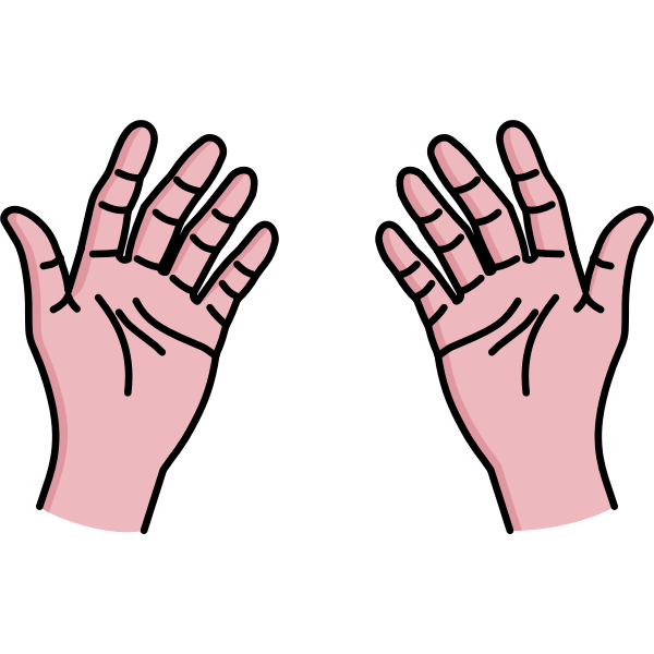 Vector image of open your palms