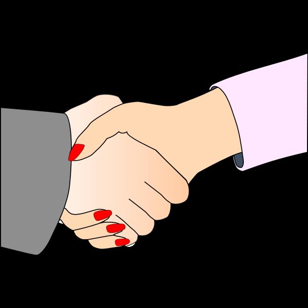 Hand shake vector clip art