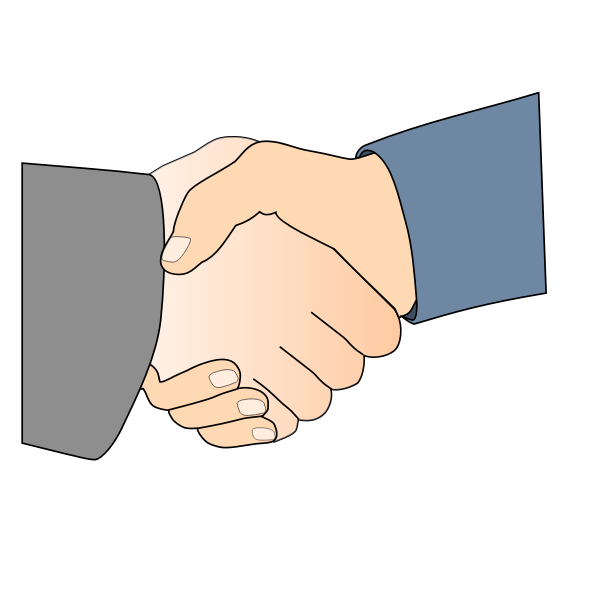 Handshake vector art