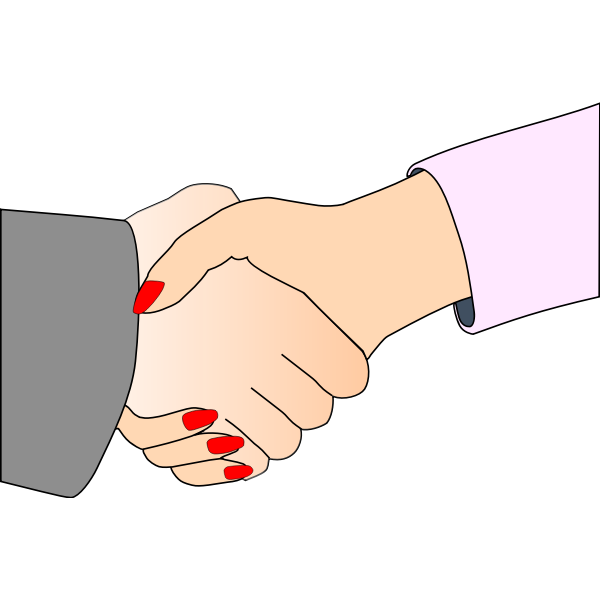 Handshake with Black Outline