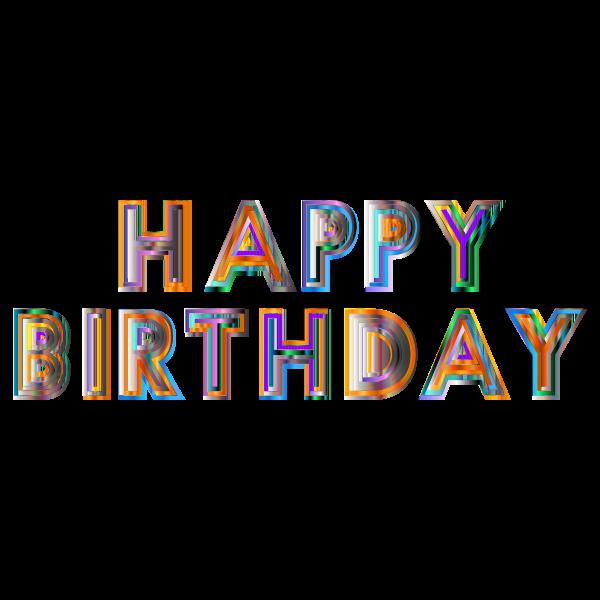Happy Birthday Typography 4
