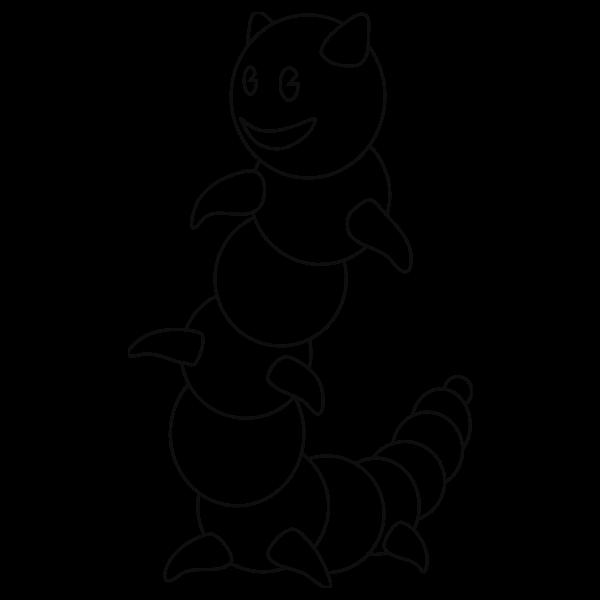 Caterpillar outline