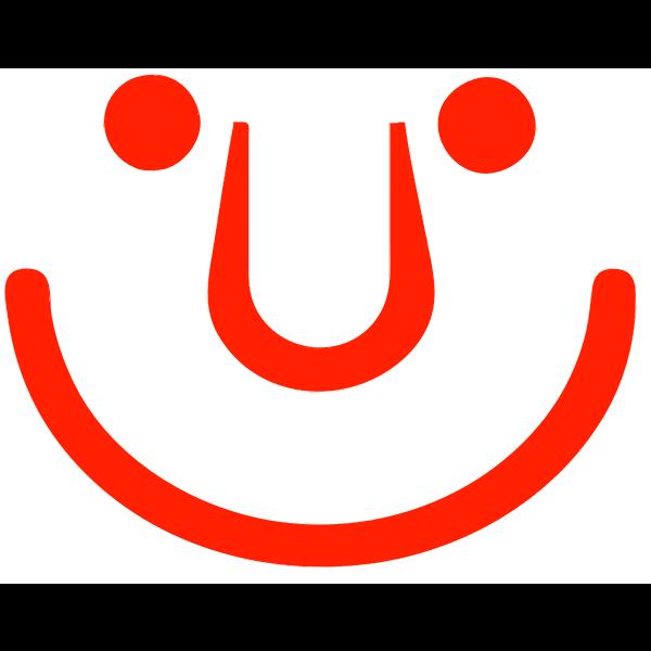 Red cartoon smiley vector image