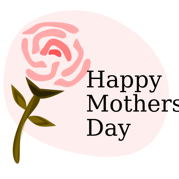 Happy Mother's Day congratulations card | Free SVG