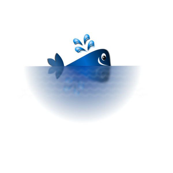 Happy blue whale vector illustration