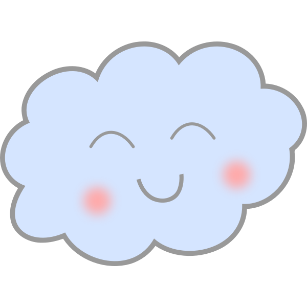 Happy cloud illustration