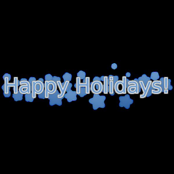 Happy Holidays Vector Text