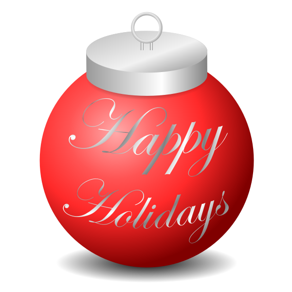 Happy Holidays Ornament Vector