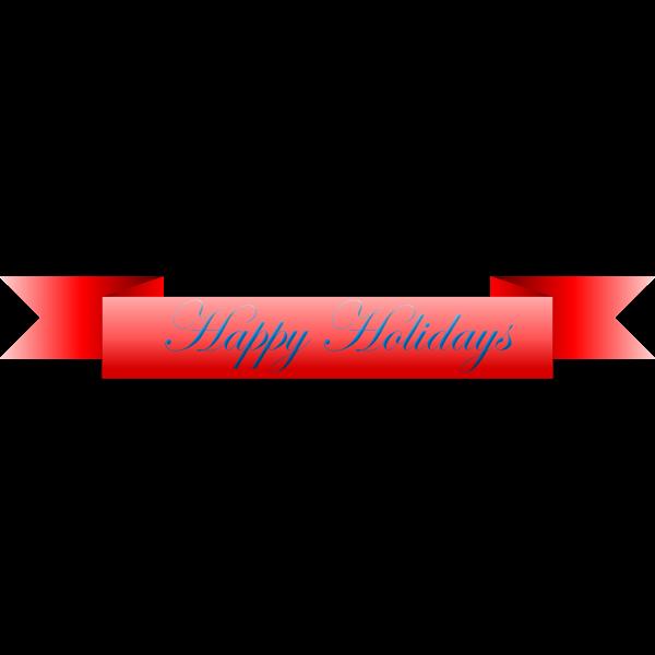 """""""Happy Holidays"""" vector ribbon"""