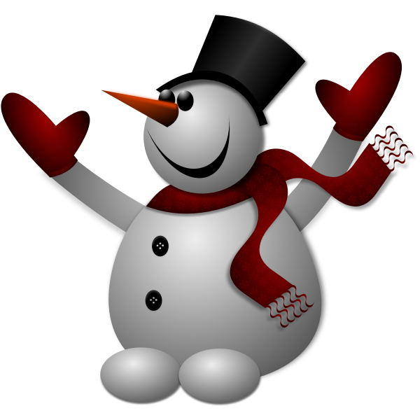 Happy snowman vector drawing